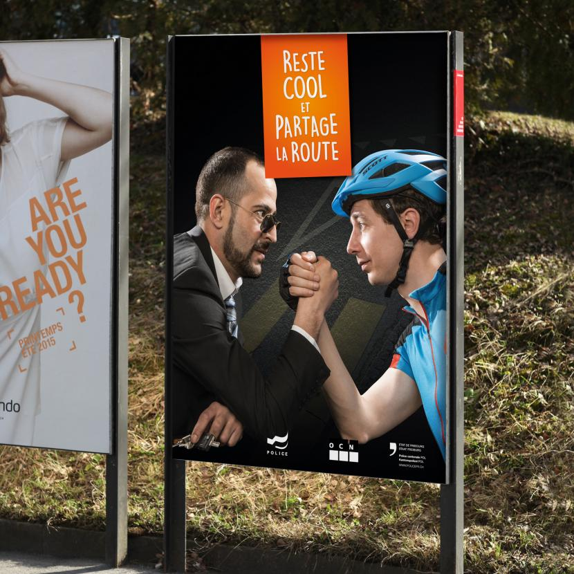 Frank R - Campagne de communication - Police Cantonale Fribourg